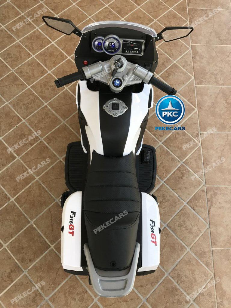 Moto electrica para niños BMW Style C 650 GT 12V Blanca vista desde arriba