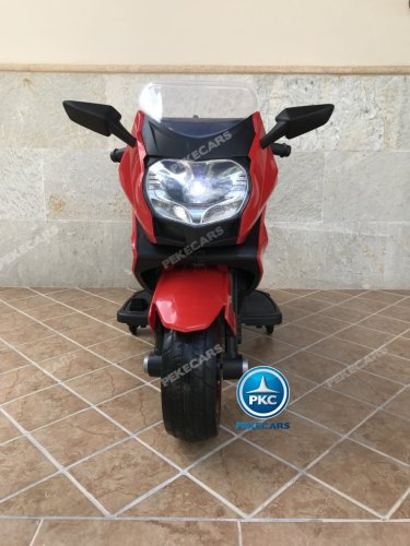 Moto electrica para niños BMW Style C 650 GT 12V Rojo vista frontal