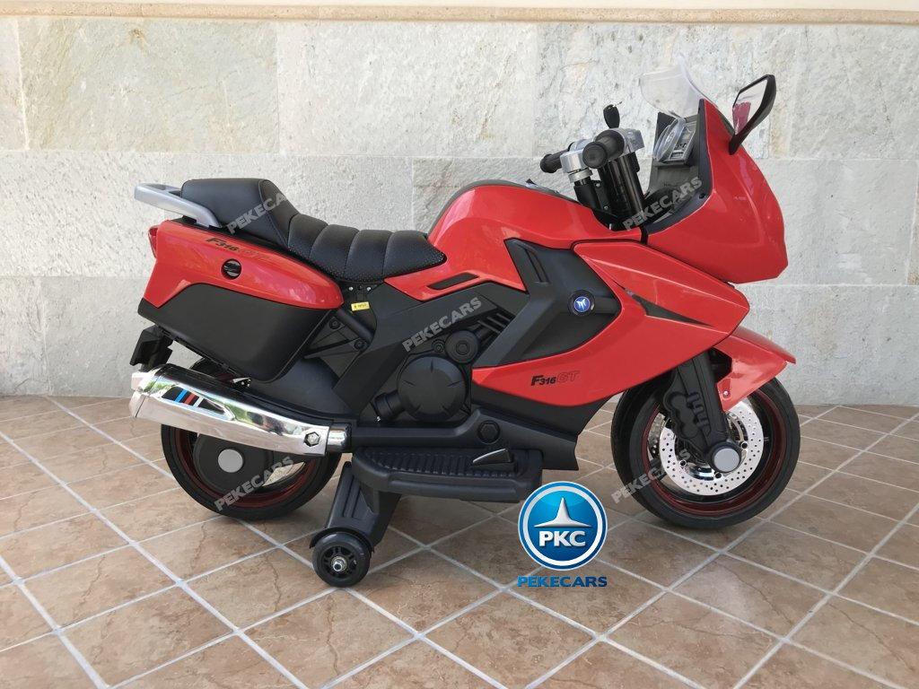 Moto electrica para niños BMW Style C 650 GT 12V Rojo lateral