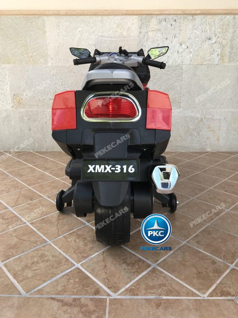 Moto electrica para niños BMW Style C 650 GT 12V Rojo vista trasera