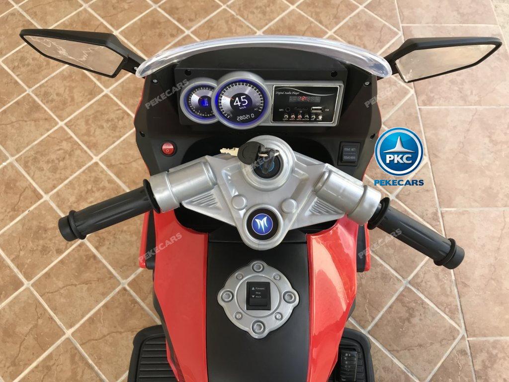 Moto electrica para niños BMW Style C 650 GT 12V Rojo vista desde arriba