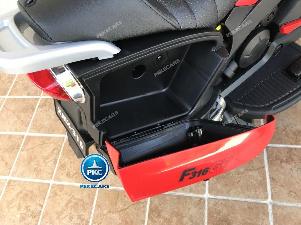 Moto electrica para niños BMW Style C 650 GT 12V Rojo pedal acelerador