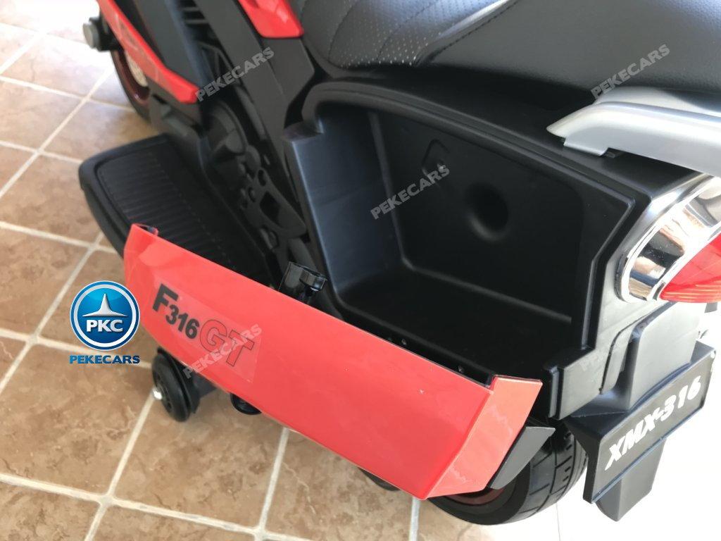 Moto electrica para niños BMW Style C 650 GT 12V Rojo ruedas de caucho antipinchazos