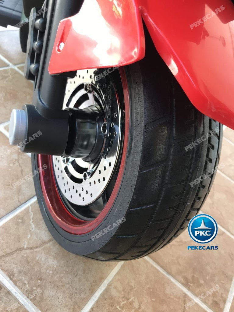 Moto electrica para niños BMW Style C 650 GT 12V Rojo maletero