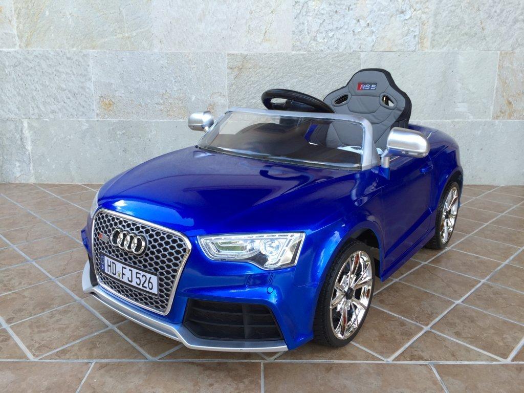 Coche electrico para niños Audi Rs5 azul vista principal