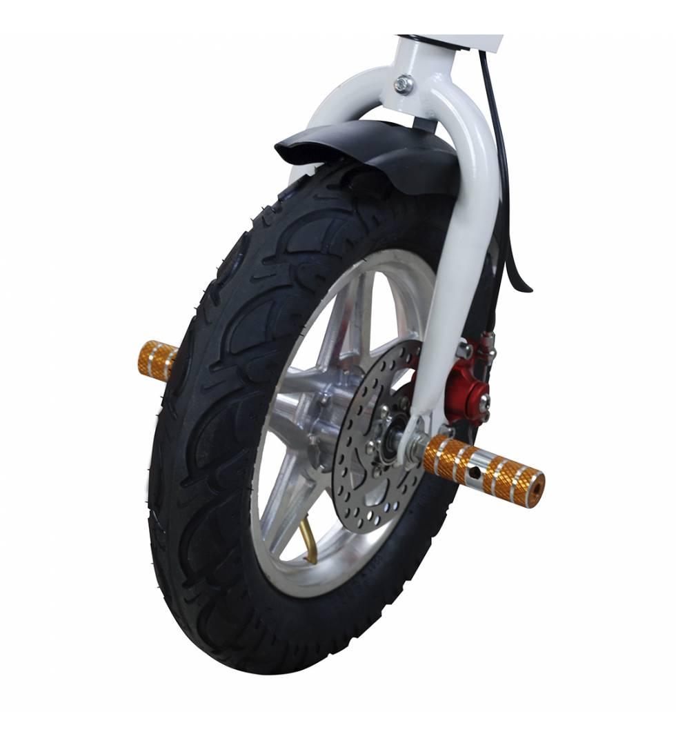 Patinete eléctrico E-Bike S1400W Brushless Blanco rueda