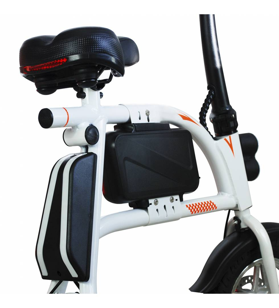Patinete eléctrico E-Bike S1400W Brushless Blanco vista trasera 2