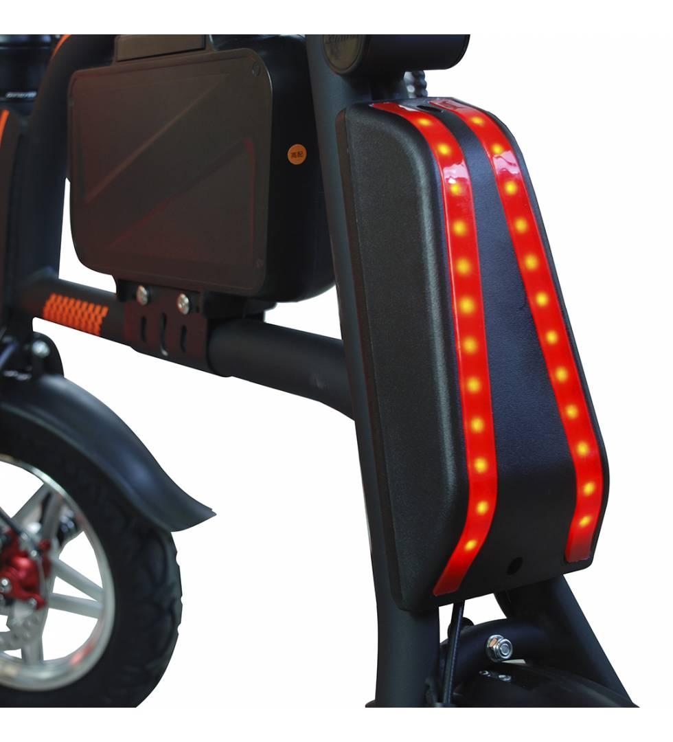Patinete eléctrico E-bike S1400W Brushless Negro vista trasera
