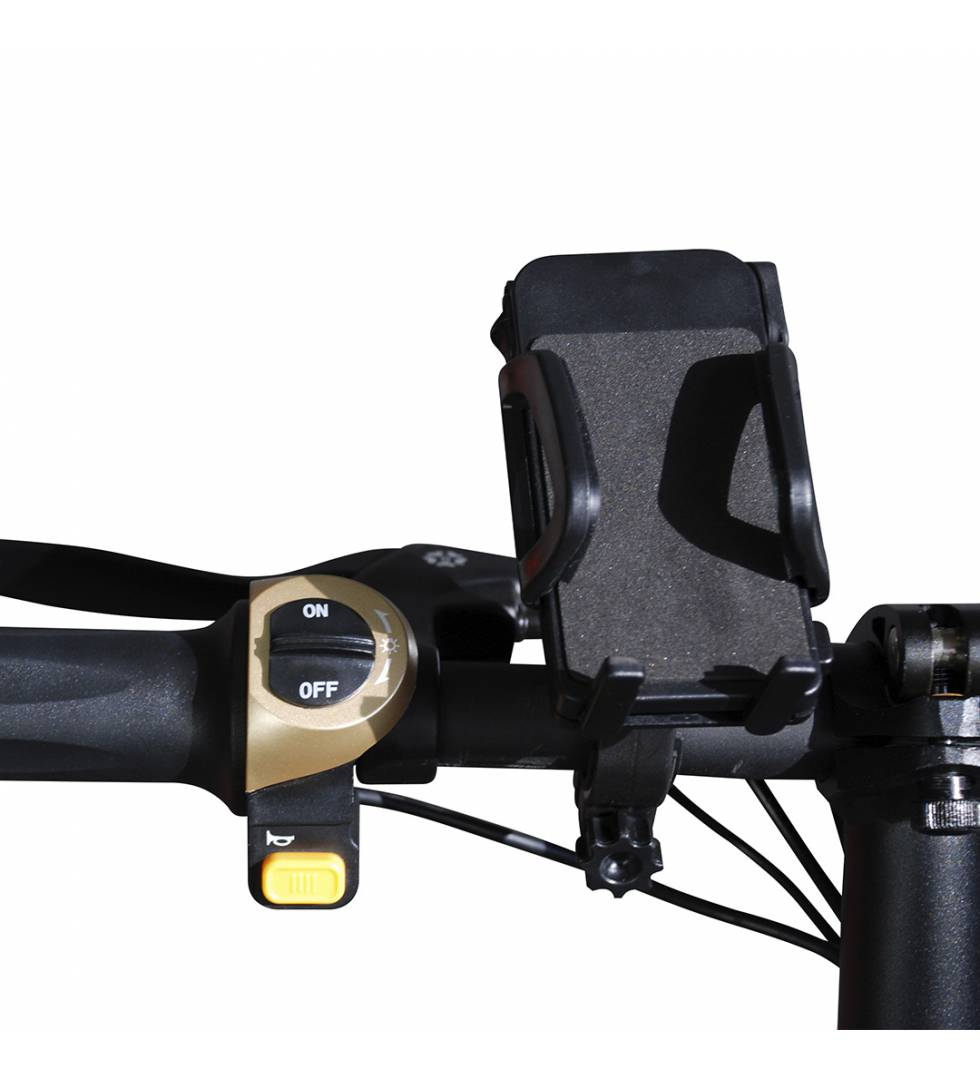 Patinete eléctrico E-bike S1400W Brushless Negro manillar izq