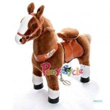 Ponycycle de uso profesional caballo marron con pezuñas blancas pequeño