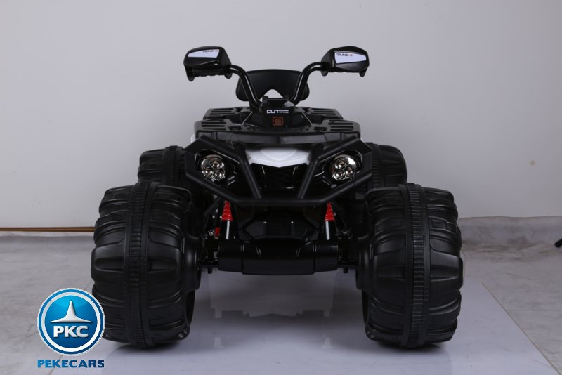 Quad eléctrico infantil big quad 24v blanco vista frontal