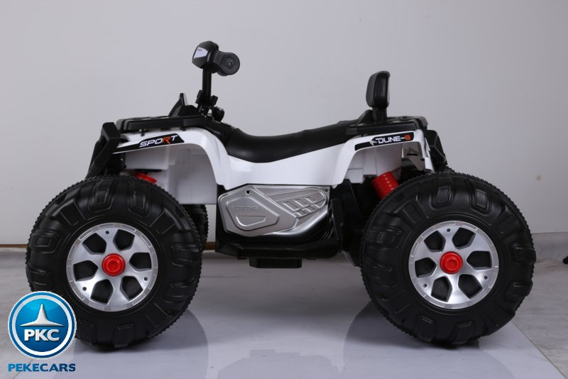 Quad eléctrico infantil big quad 24v blanco lateral