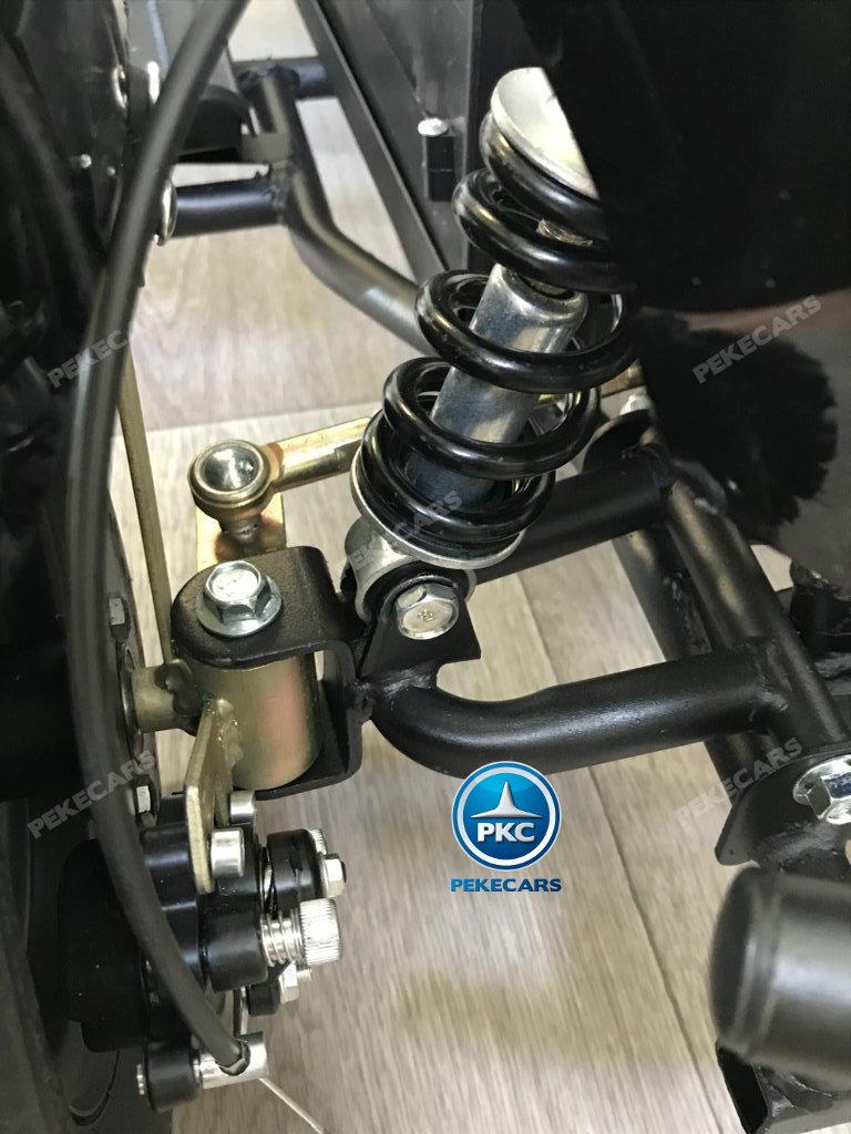 Quad Cobra 36V 800W Blanco amortiguador