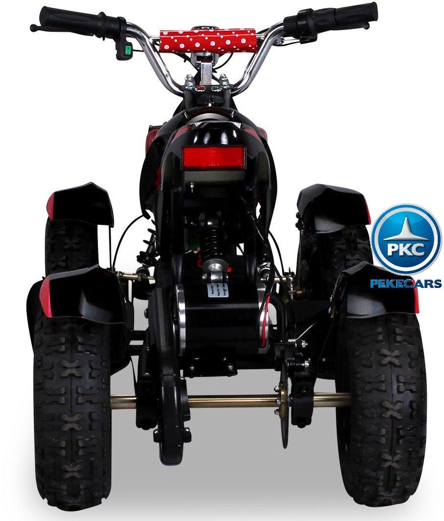 Quad Cobra 36V 800W Rojo vista trasera