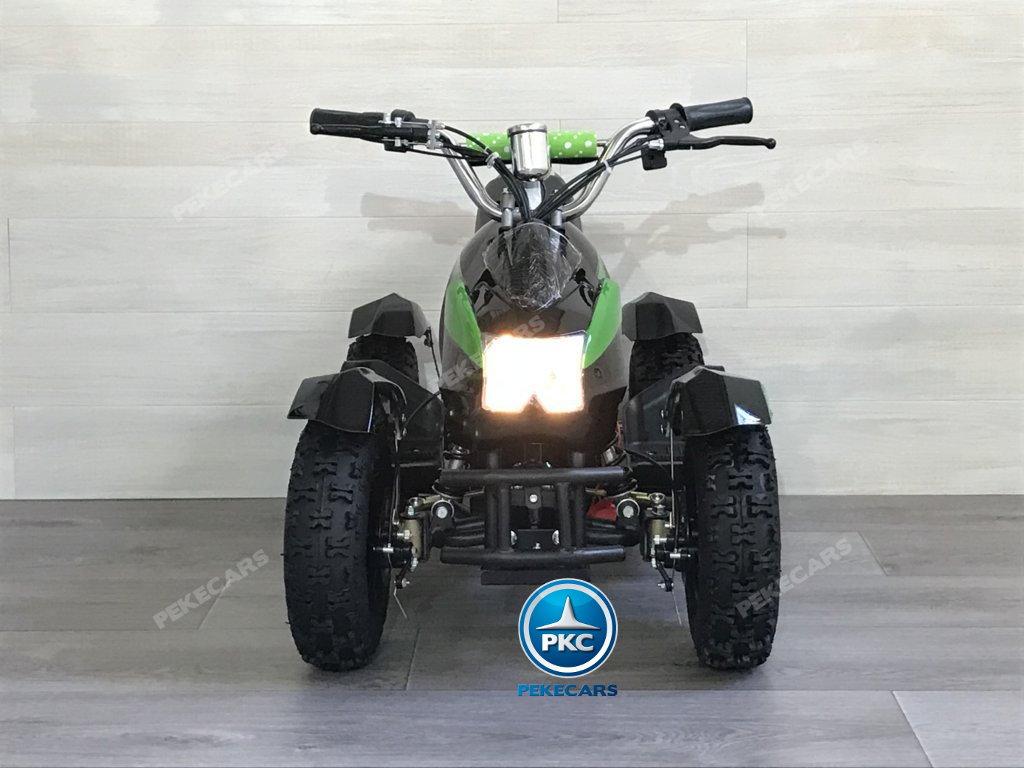 Quad Cobra 36V 800W Verde vista frontal
