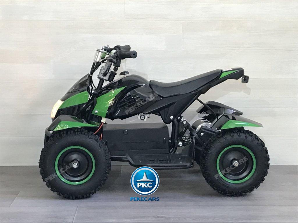 Quad Cobra 36V 800W Verde lateral