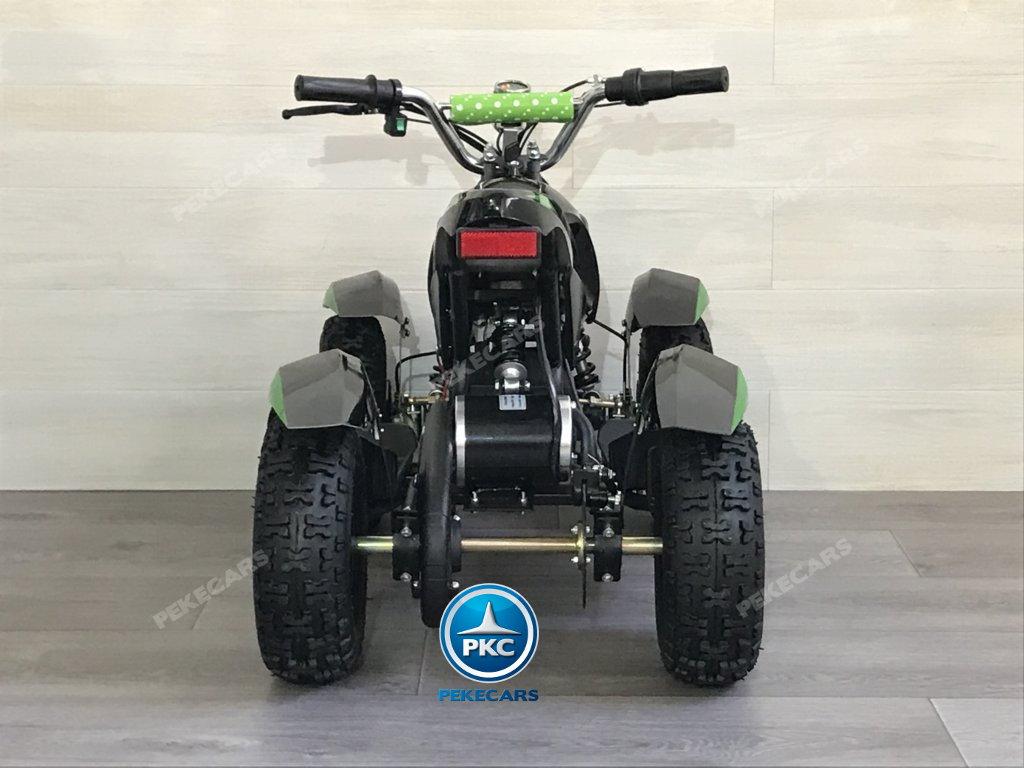 Quad Cobra 36V 800W Verde vista trasera
