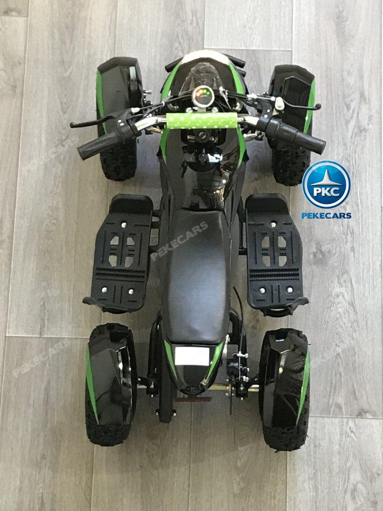 Quad Cobra 36V 800W Verde asiento acolchado en piel