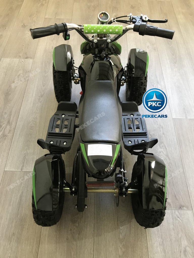 Quad Cobra 36V 800W Verde visto desde arriba