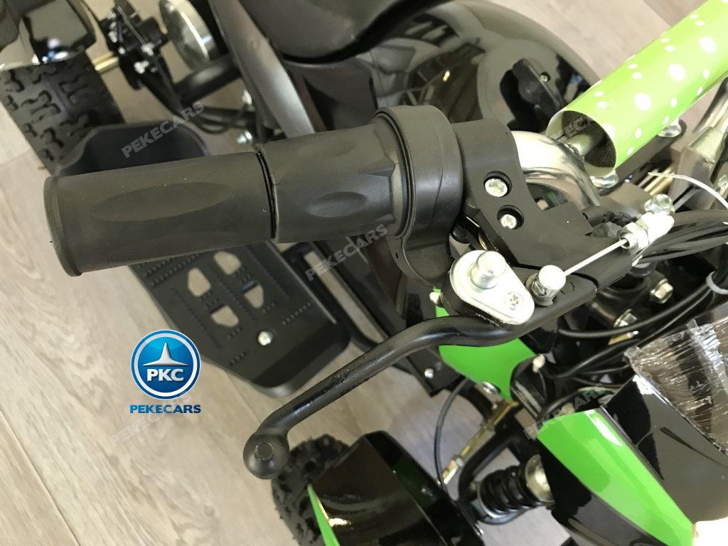 Quad Cobra 36V 800W Verde manillar