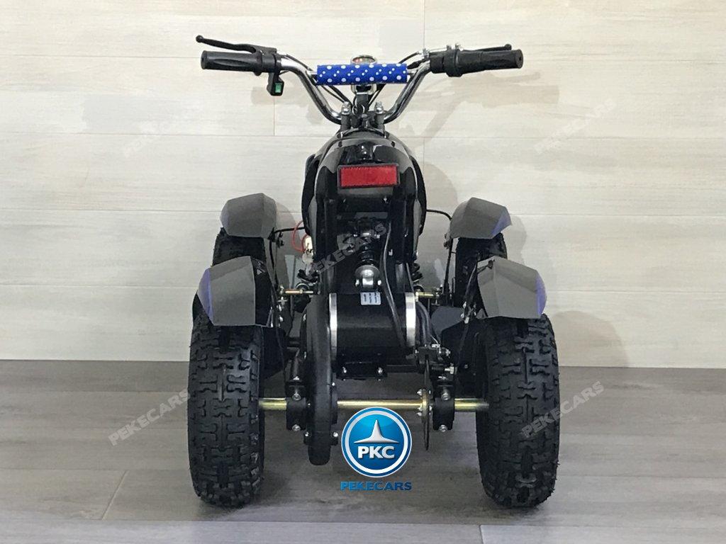 Quad Cobra 36V 800W Azul vista trasera