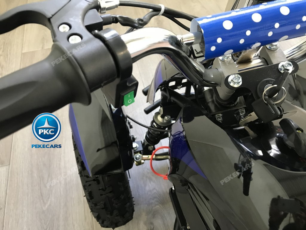 Quad Cobra 36V 800W Azul interruptor