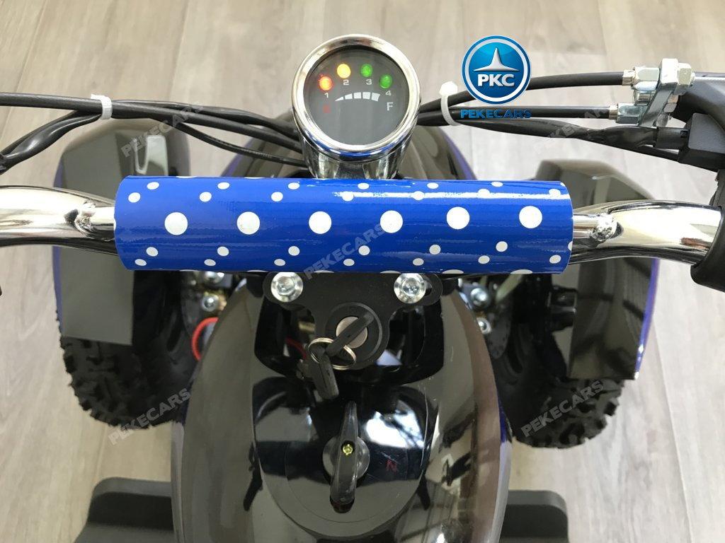 Quad Cobra 36V 800W Azul voltimetro