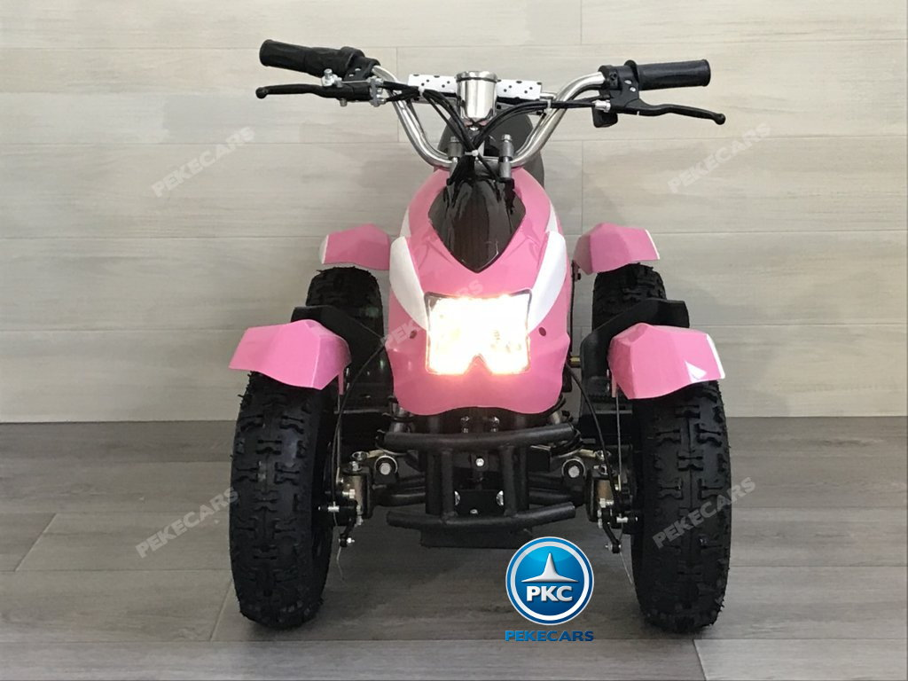 Quad Cobra 36V 800W Rosa vista frontal