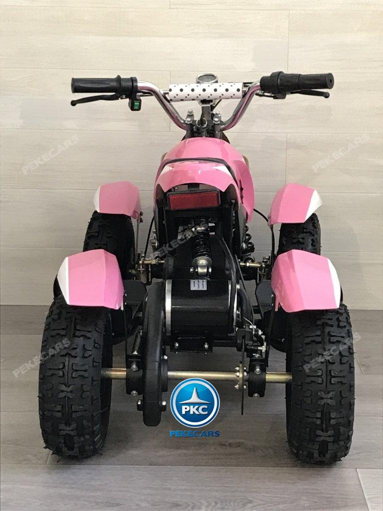 Quad Cobra 36V 800W Rosa vista trasera
