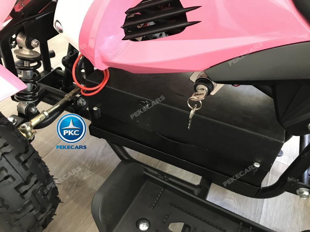 Quad Cobra 36V 800W Rosa limitador de velocidad