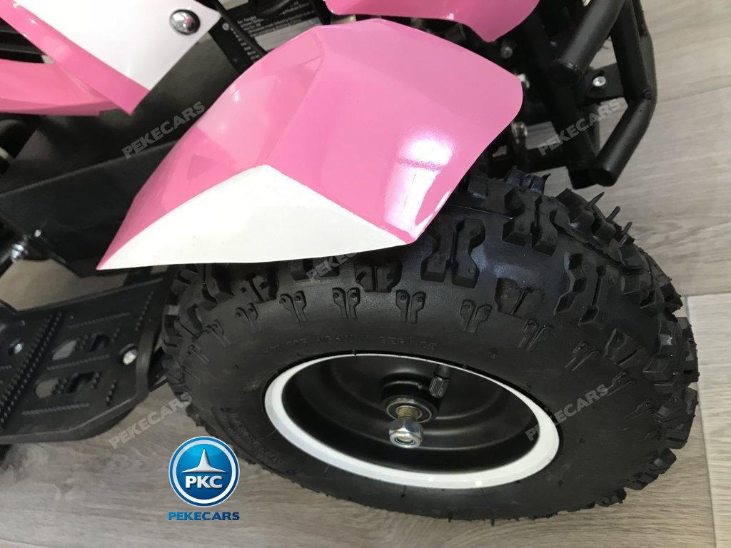 Quad Cobra 36V 800W Rosa ruedas neumaticas