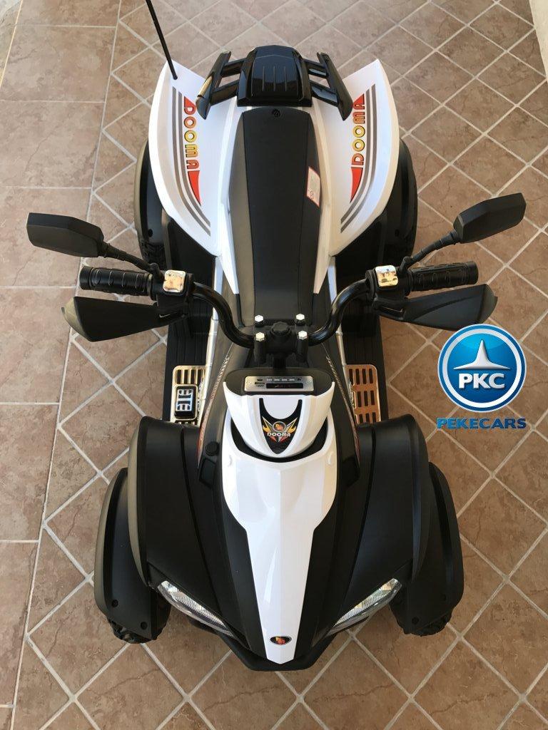 Quad Eléctrico Infantil Giga Quad 12V Blanco