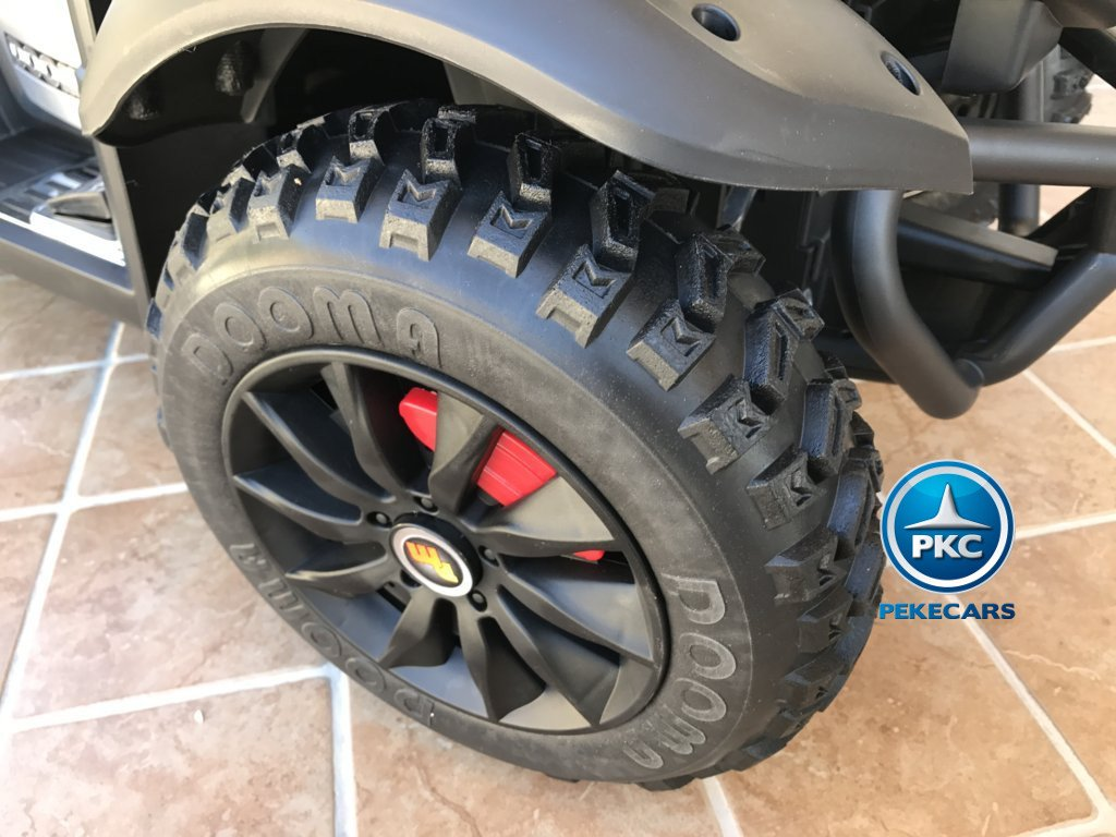 Quad Eléctrico Infantil Giga Quad 12V Blanco ruedas de caucho antipinchazos