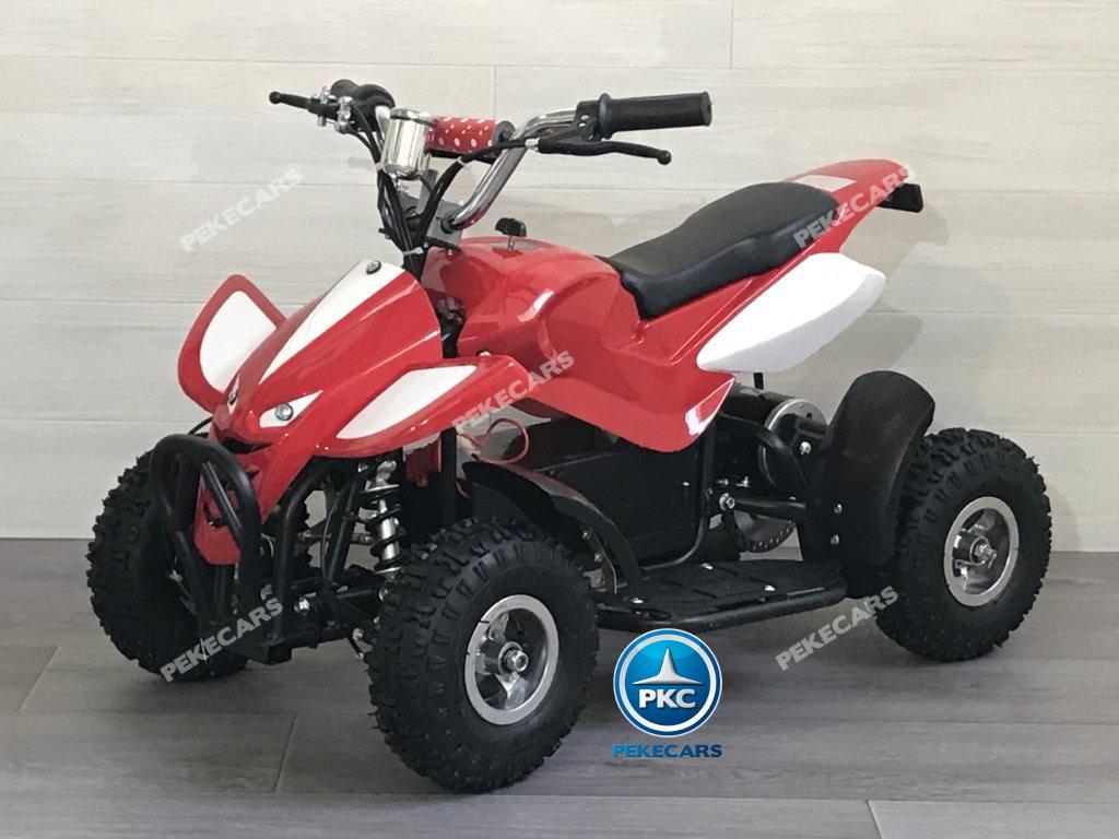 Quad eléctrico para niños mini atv 36V rojo y blanco vista principal