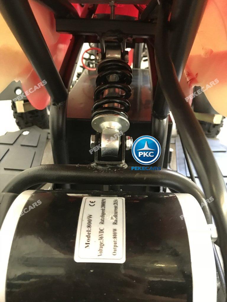 Quad eléctrico para niños mini atv 36V rojo y blanco suspension