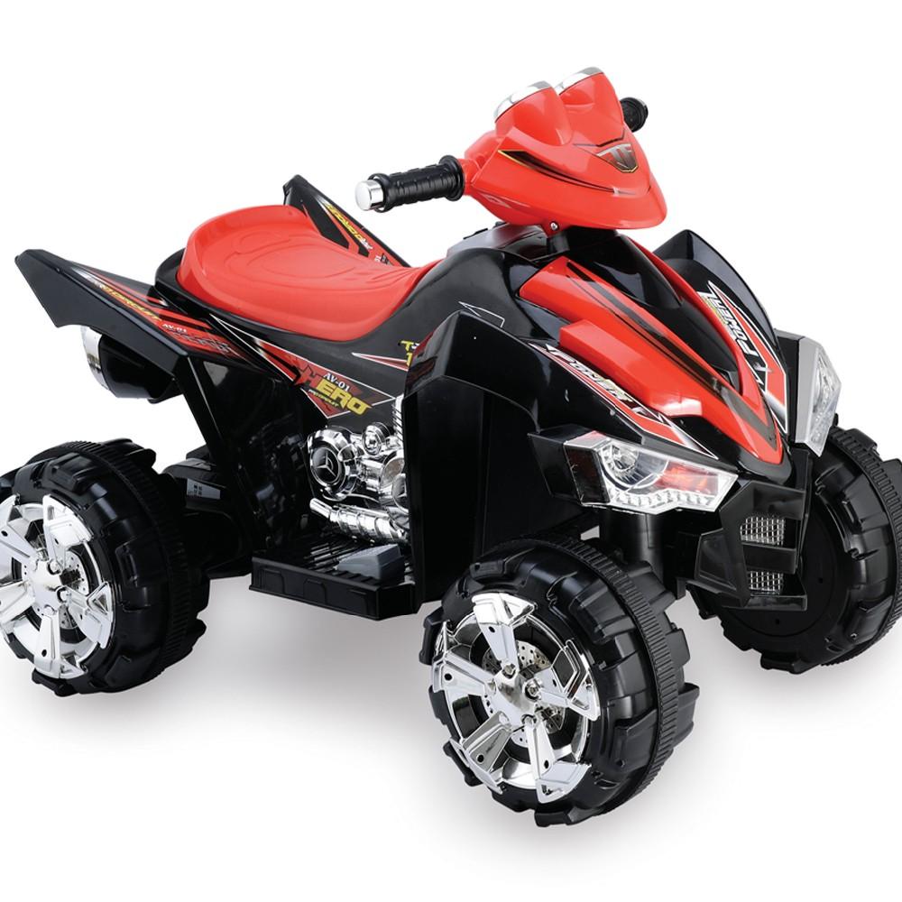 Quad eléctrico infantil Pekecars doble velocidad Negro