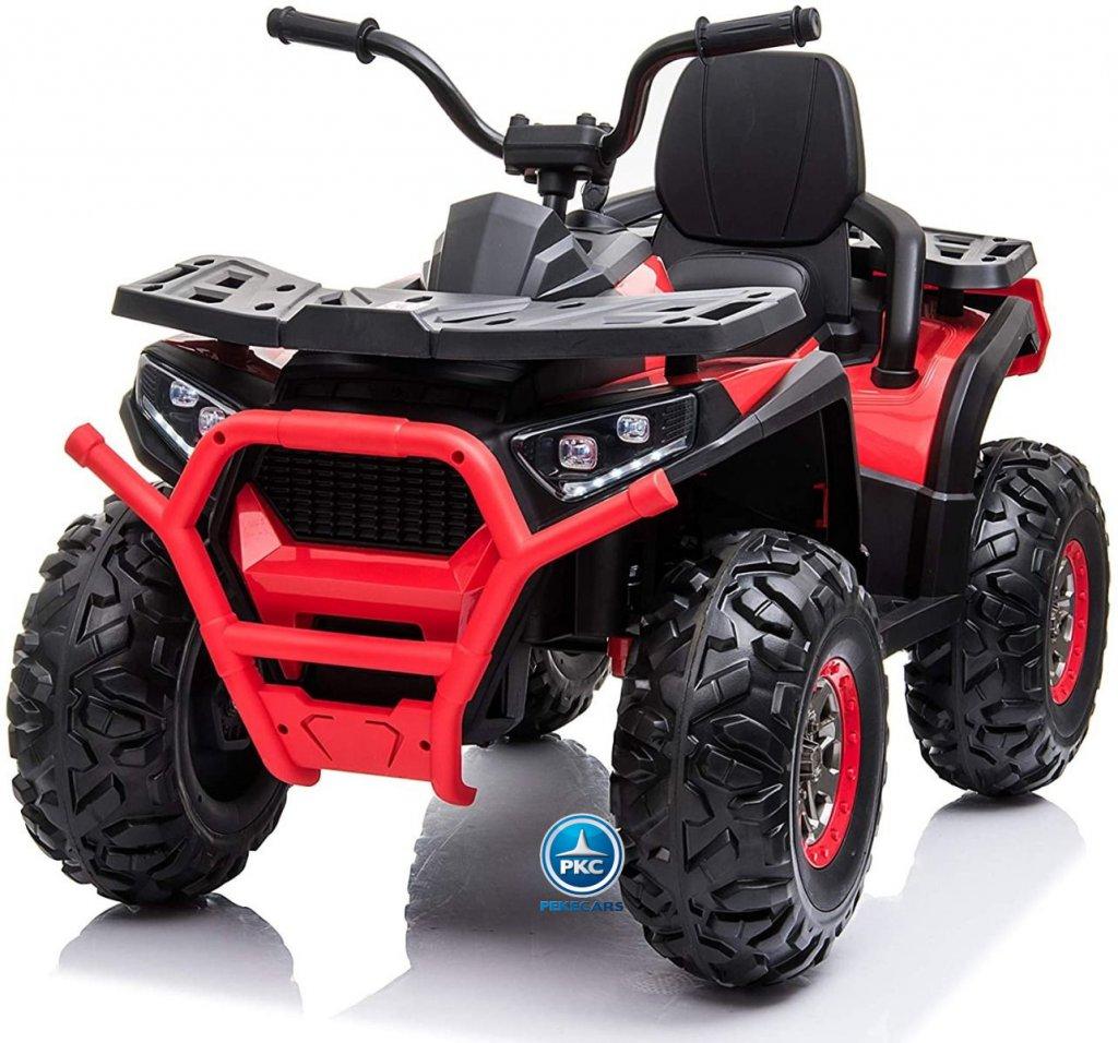 Quad eléctrico para niños 12V 2.4G Rojo Metalizado