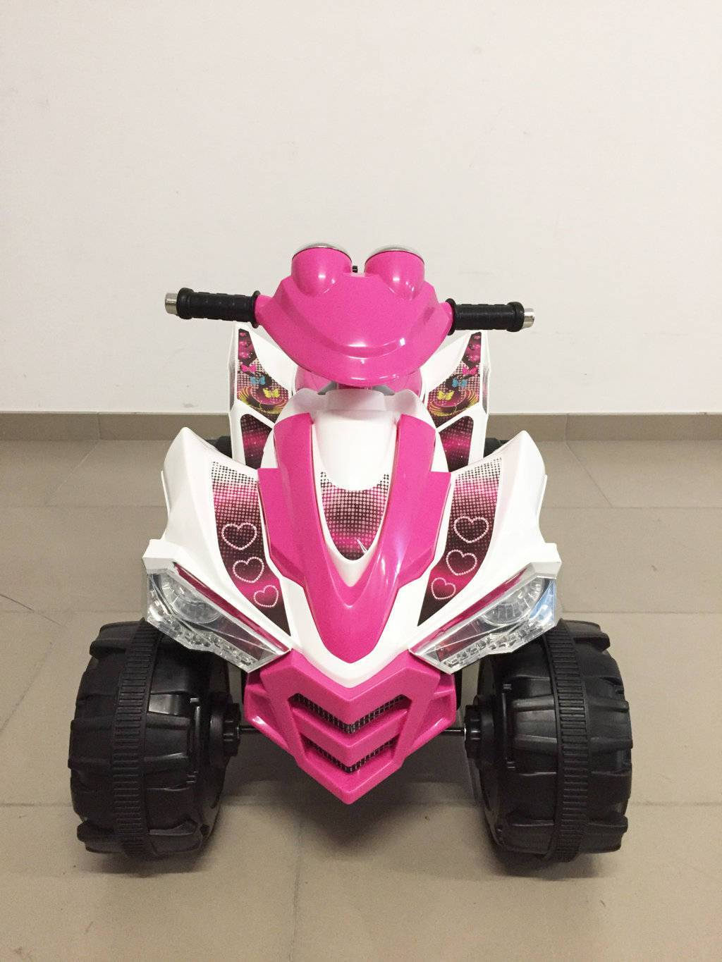 Quad Electrico Rosa 12V - Vista Frontal