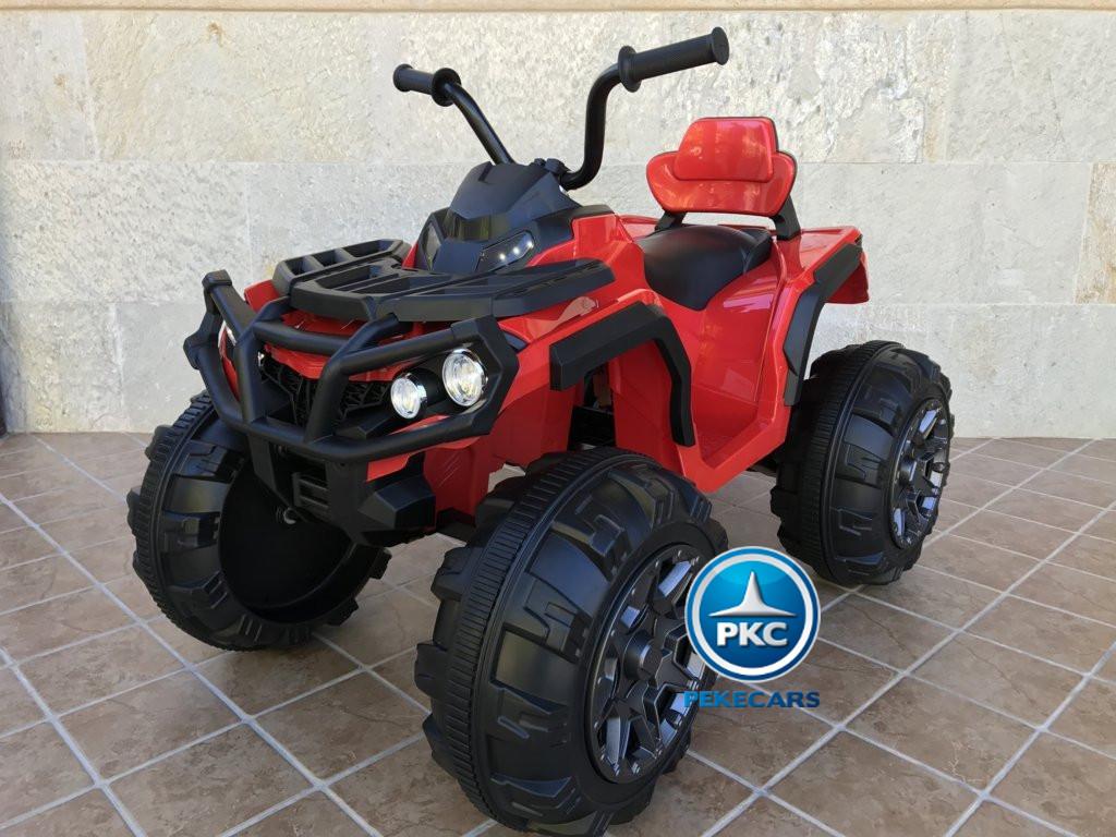 Quad Eléctrico Infantil Pekecars 906D Rojo vista principal
