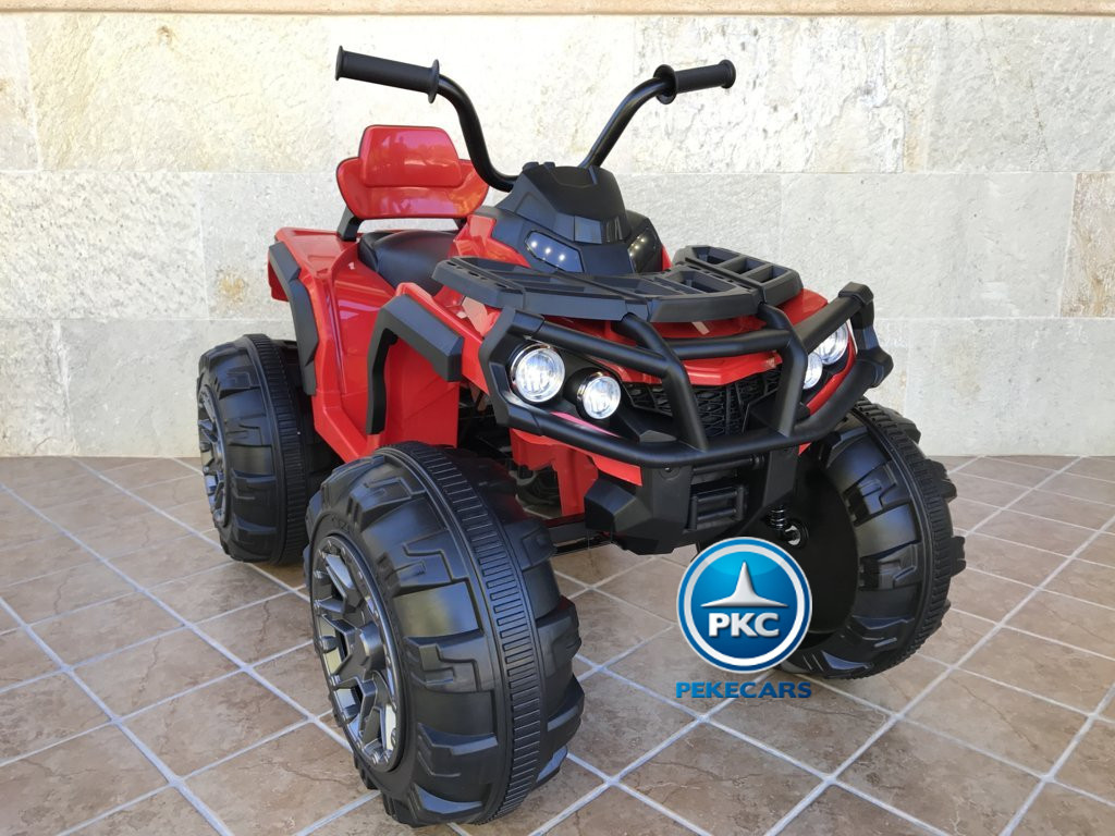 Quad Eléctrico Infantil Pekecars 906D Rojo con luces frontales