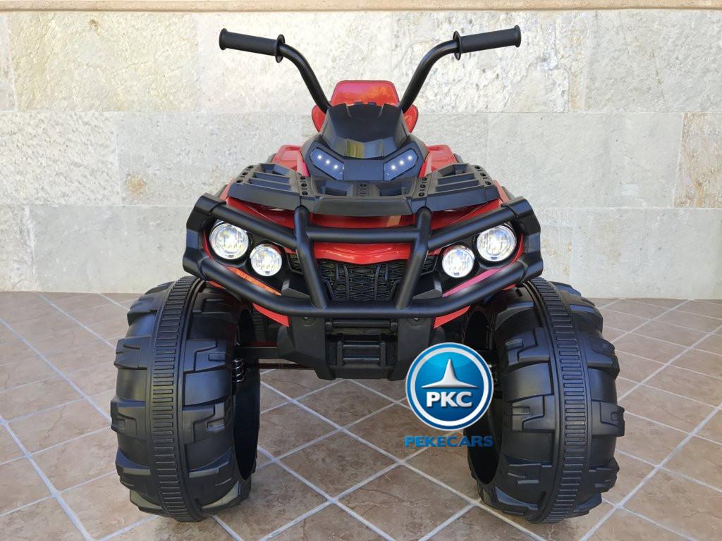 Quad Eléctrico Infantil Pekecars 906D Rojo vista frontal