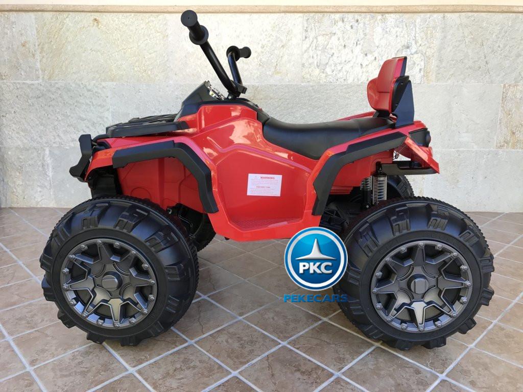 Quad Eléctrico Infantil Pekecars 906D Rojo de lado