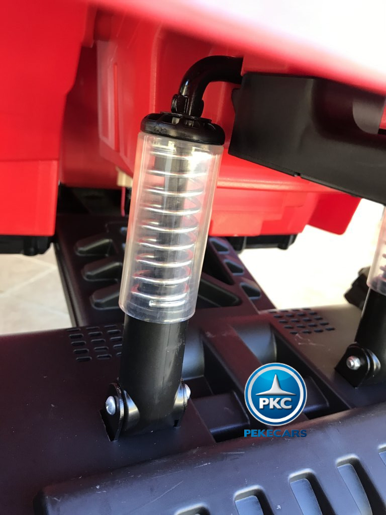 Quad Eléctrico Infantil Pekecars 906D Rojo con suspension a las 4 ruedas