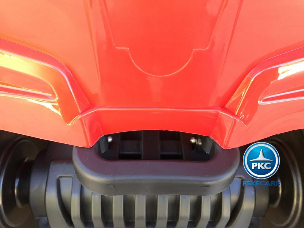 Quad Eléctrico Infantil Pekecars 906D Rojo con asa de transporte