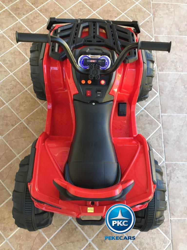 Quad Eléctrico Infantil Pekecars 906D Rojo visto desde arriba