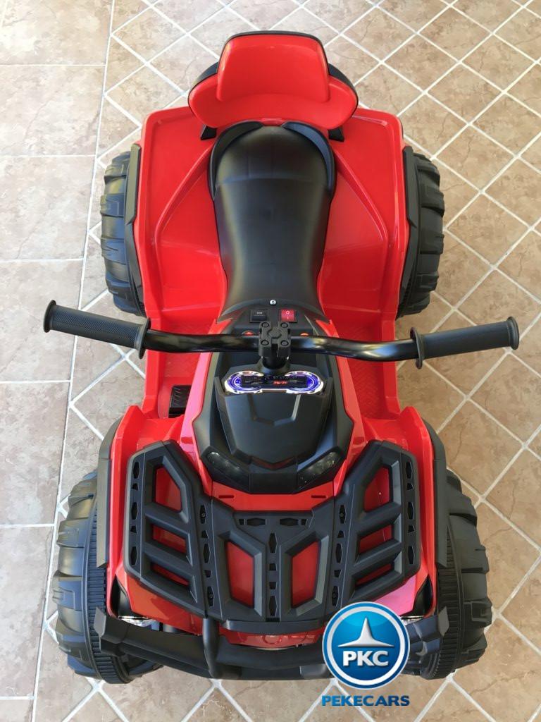 Quad Eléctrico Infantil Pekecars 906D Rojo