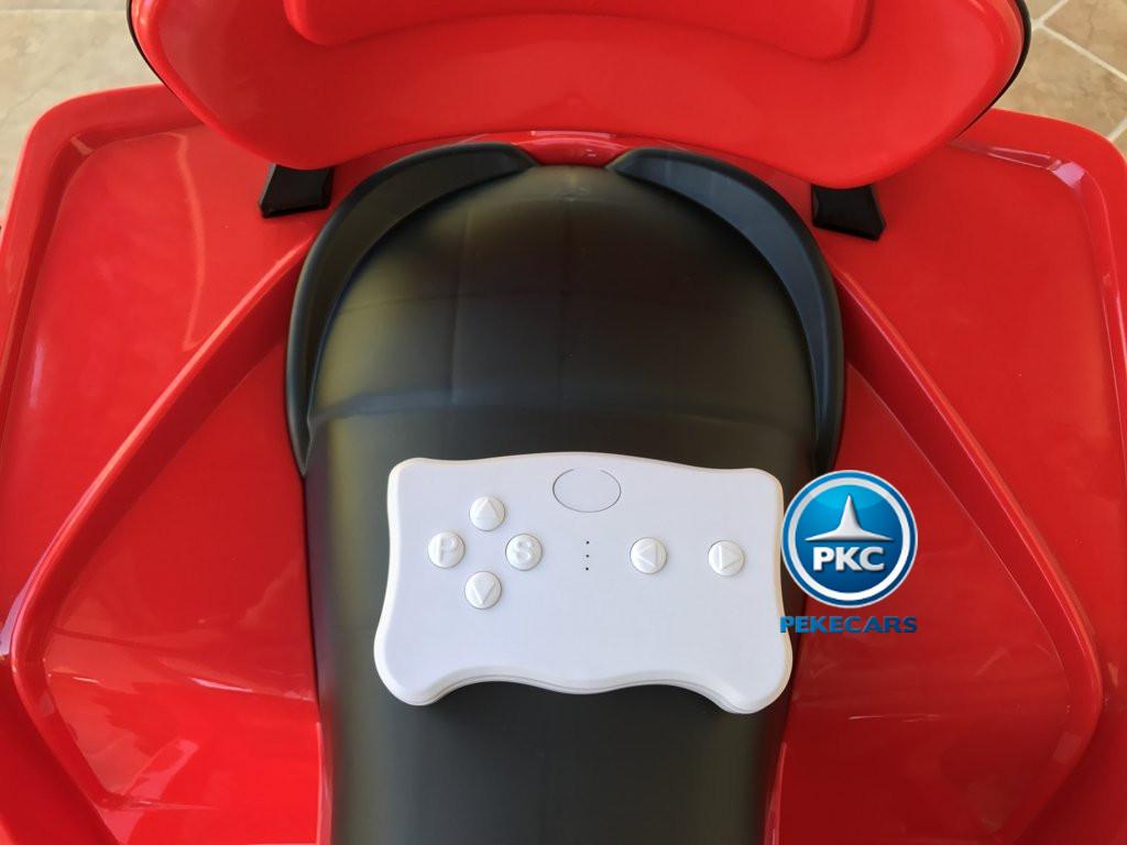 Quad Eléctrico Infantil Pekecars 906D Rojo con mando radiocontrol