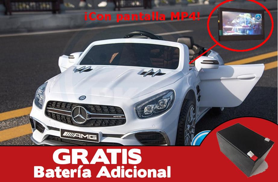Mercedes sl65 blanco pekecars con pantalla MP4