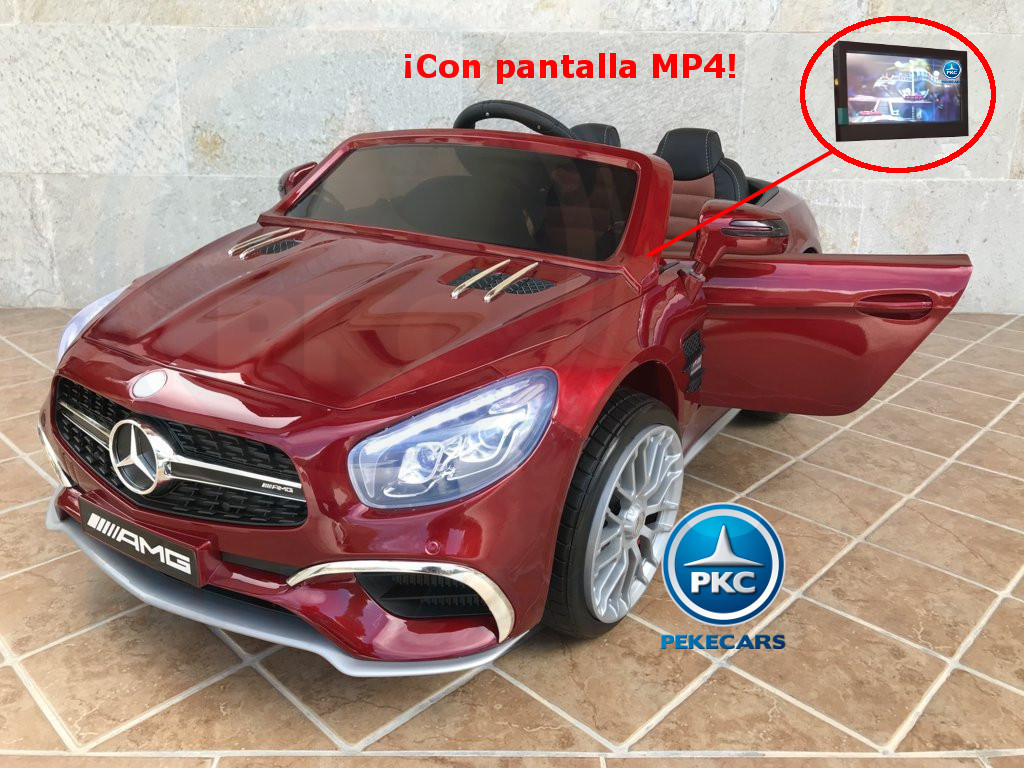Mercedes sl65 rojo metalizado pekecars con pantalla MP4