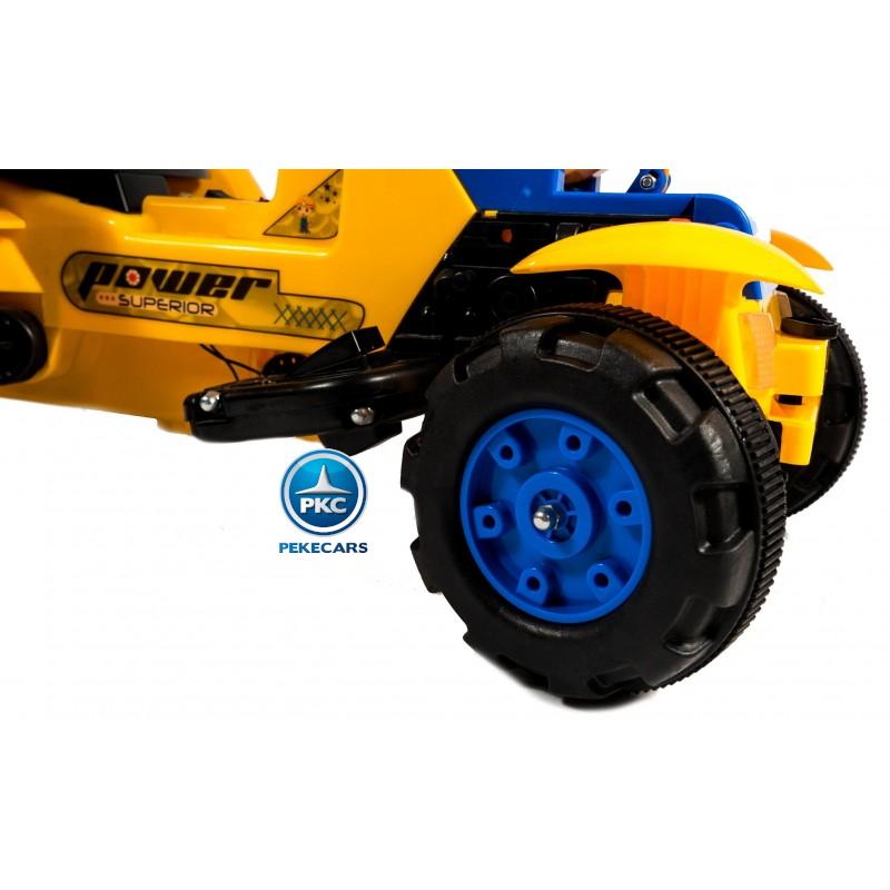 Tractor de pedales power superior Amarillo